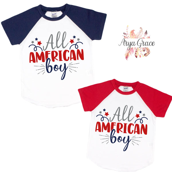 All American Boy Graphic Tee {Infant/Toddler/Youth}