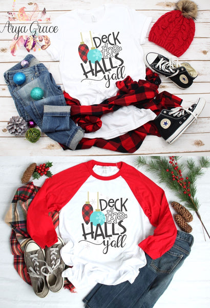 Deck the Halls Y'all Graphic Tee