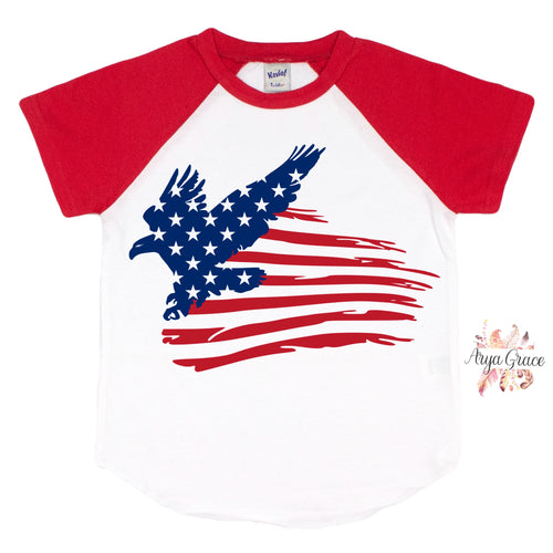 Distressed American Eagle Graphic Tee {Infant/Toddler/Youth}