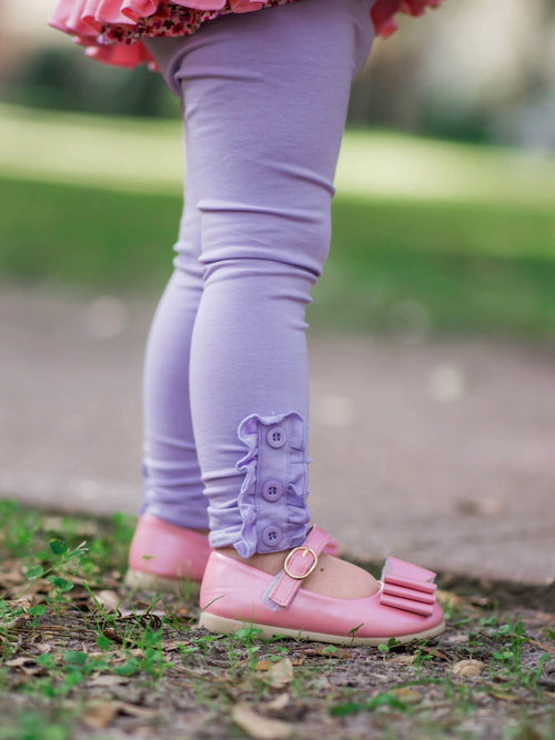 Lavender Button Leggings