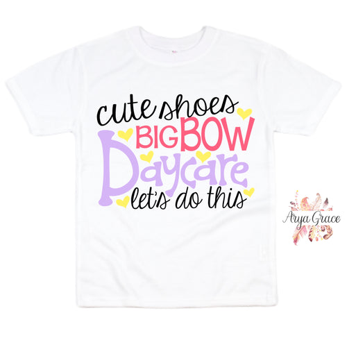 Cute Shoes Big Bow Daycare Graphic Tee