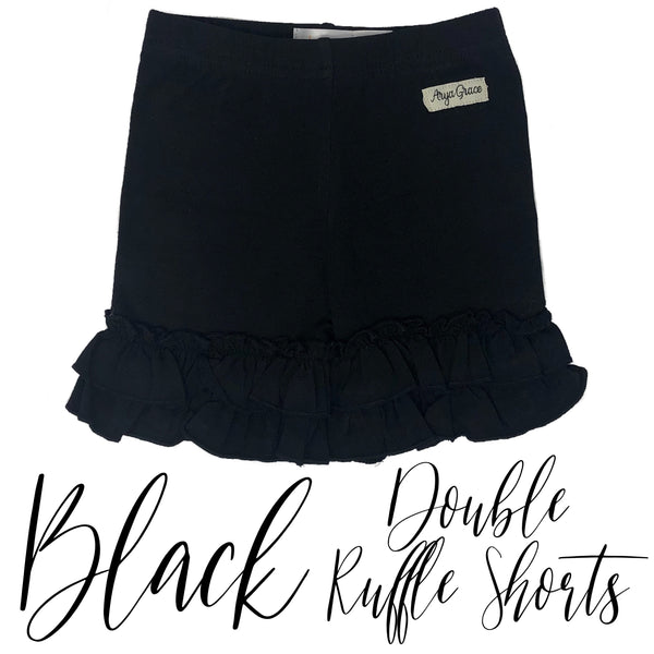 Black Double Ruffle Shorties