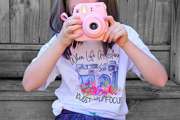 When Life Gets Blurry Adjust Your Focus Graphic Tee