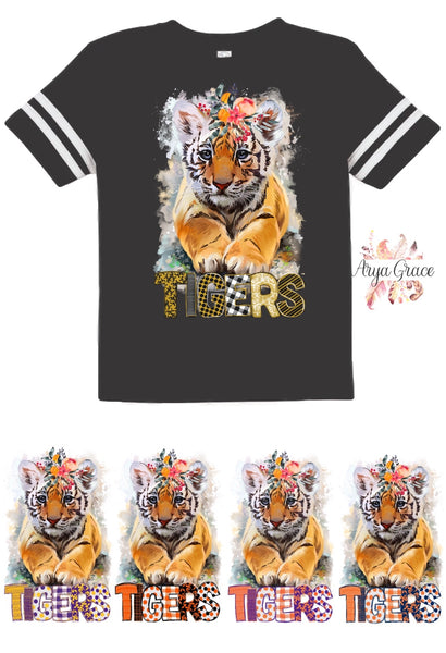 Tigers Football Style Graphic Tee {Infant/Toddler/Youth}
