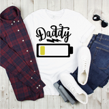 Daddy Battery Graphic Tee {Adult}