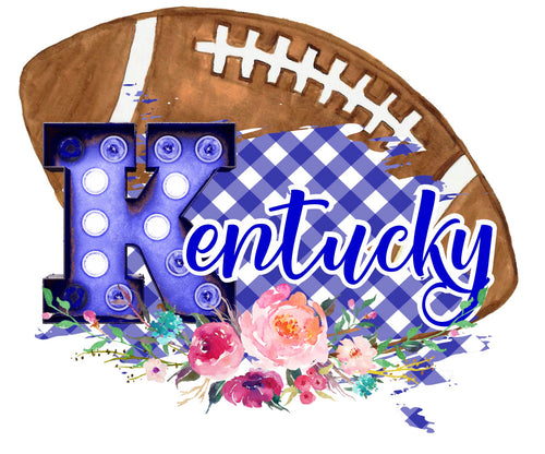 Kentucky Floral Football Graphic Tee