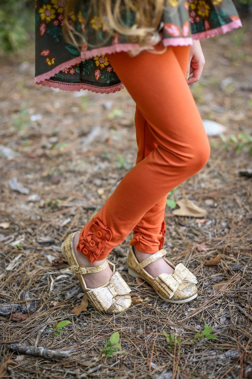 Pumpkin Spice Button Leggings