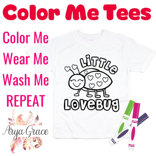 Little Love Bug Color Me💙Graphic Tee {Toddler/Youth Sizing}
