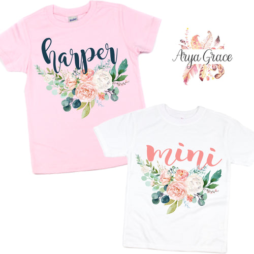 Peach Floral Graphic Tee {Infant/Toddler/Youth Sizing}