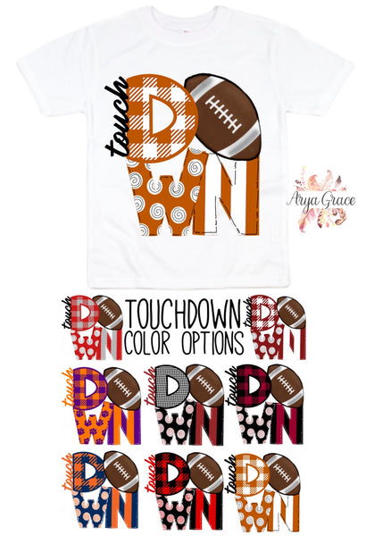 Touchdown Graphic Tee {Infant/Toddler/Youth} Kayla's T-Shirt Party