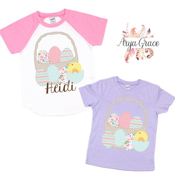 Patchwork Easter Basket Graphic Tee