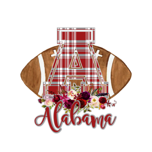 "Alabama ""A"" Floral Football Graphic Tee"