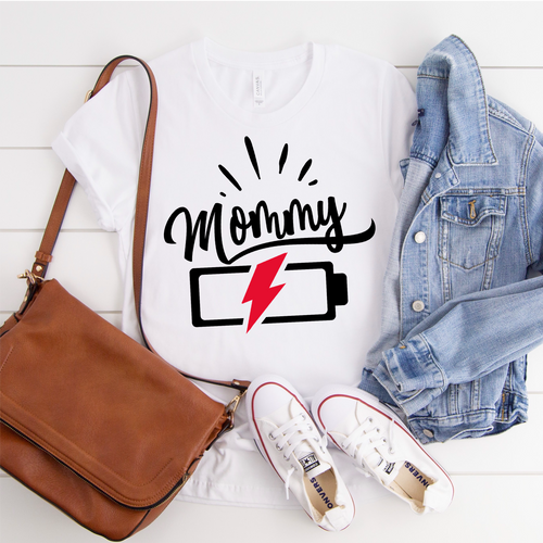Mommy Battery Graphic Tee {Adult}