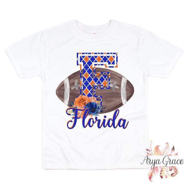 Florida Floral Football Graphic Tee {Infant/Toddler/Youth}