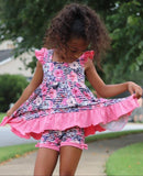 Dusty Rose Floral Audrey Dress Set
