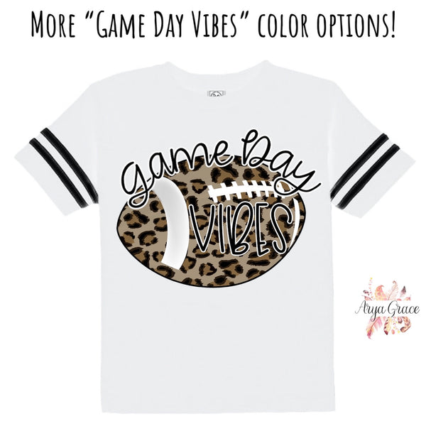 Game Day Vibes Football Style Graphic Tee {Infant/Toddler/Youth}
