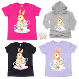 Tea-cup Bunny Graphic Tee