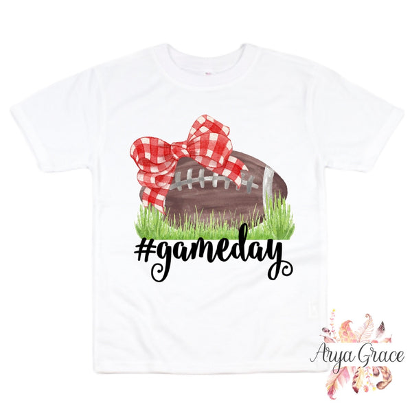 #Gameday {Choose Your Bow Color} Graphic Tee {Infant/Toddler/Youth} Kayla's T-Shirt Party