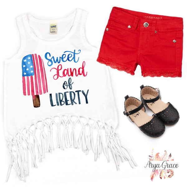 Popsicle Sweet Land of Liberty Graphic Tee {Infant/Toddler/Youth}