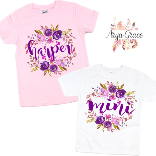 Violet Floral Graphic Tee {Infant/Toddler/Youth Sizing}