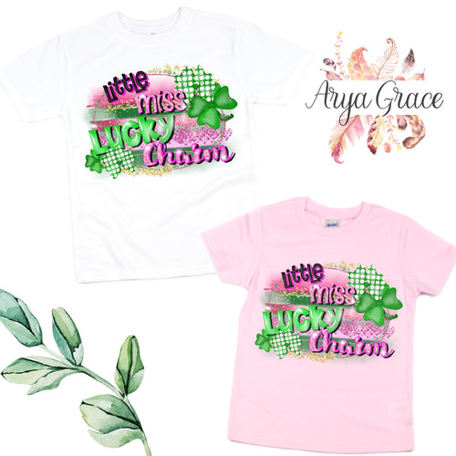 Little Miss Lucky Charm Graphic Tee {Infant/Toddler Youth}
