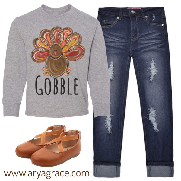 "Turkey ""Gobble"" Graphic Tee"