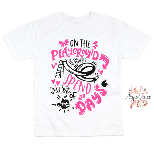 On the Playground (PINK) Graphic Tee