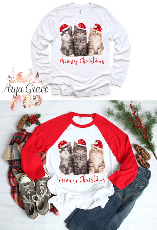Meowy Christmas Graphic Tee