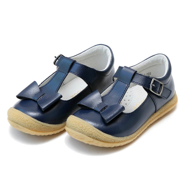 Navy Bow T-Strap Mary Jane