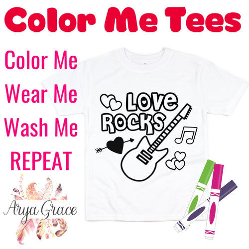 Love Rocks Color Me💙Graphic Tee {Toddler/Youth Sizing}