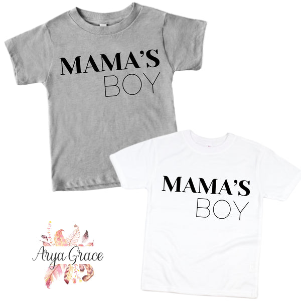 Mama's Boy Graphic Tee {Infant/Toddler/Youth Sizing}