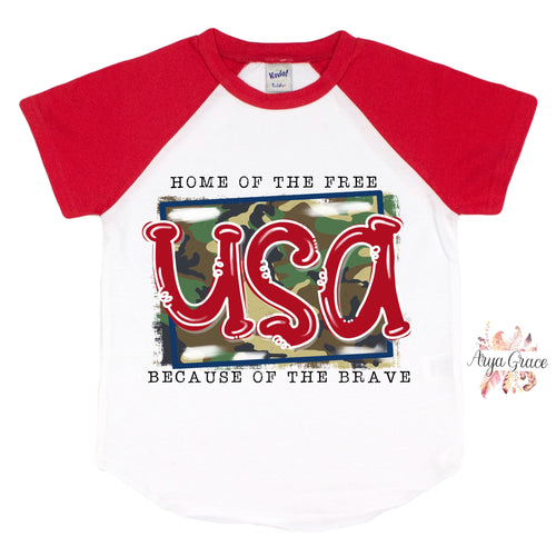Home of the Free Graphic Tee {Infant/Toddler/Youth}