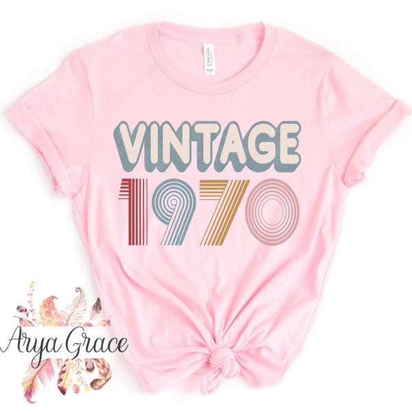 Vintage 1970 Graphic Tee {Adult Sizing}