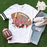 Alabama Floral Football Graphic Tee {Adult Sizing}