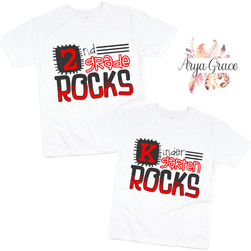 School Rocks (Grade) Graphic Tee