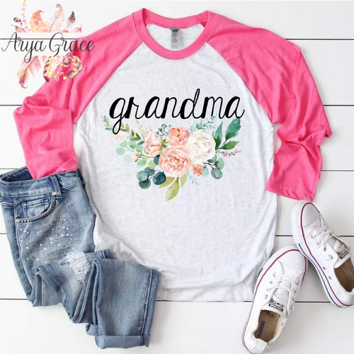 Peach Floral Bouquet Graphic Tee {Unisex Adult Sizing}