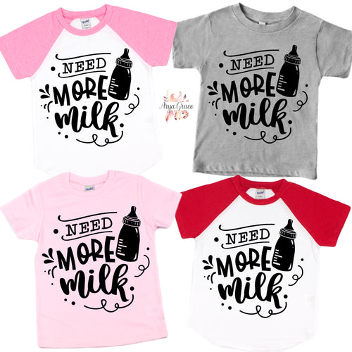 Need More Milk Graphic Tee (Infant, Toddler & Youth)