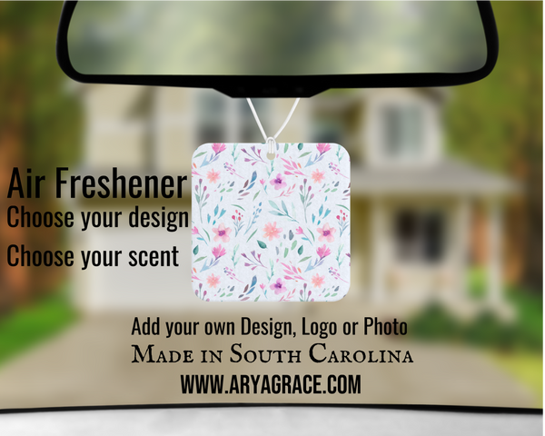 Watercolor Floral Air Freshener