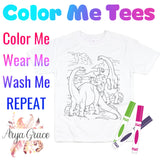 Dinosaur Color Me💙Graphic Tee {Toddler/Youth Sizing}