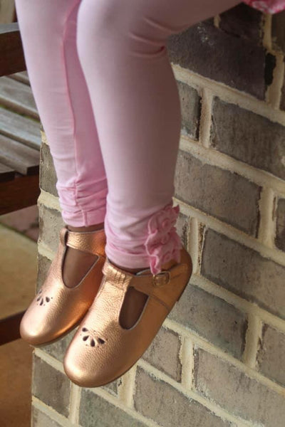 Light Pink Button Leggings
