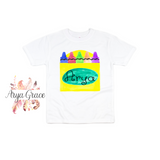 Crayon Box Graphic Tee