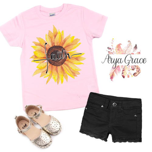 Sunflower Faith Graphic Tee {Infant/Toddler/Youth Sizing}