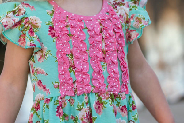 Mint Blossom Gracie Tunic
