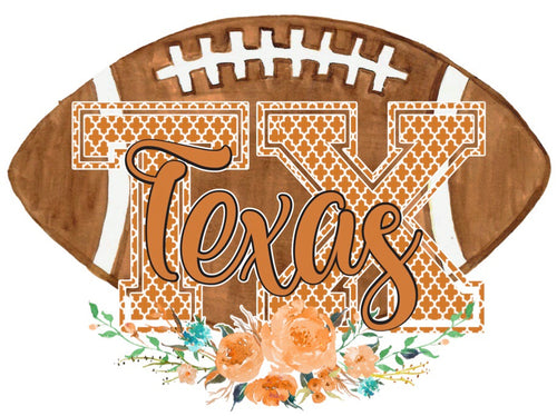 Texas Floral Football Graphic Tee