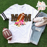 Cheetah Football Mom Graphic Tee {Adult Sizing}