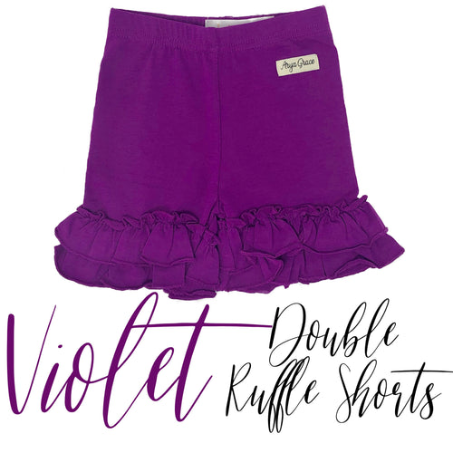 Violet Double Ruffle Shorties