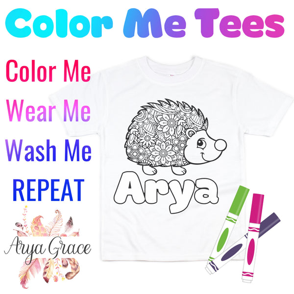 Hedgehog Color Me💙Graphic Tee {Toddler/Youth Sizing}