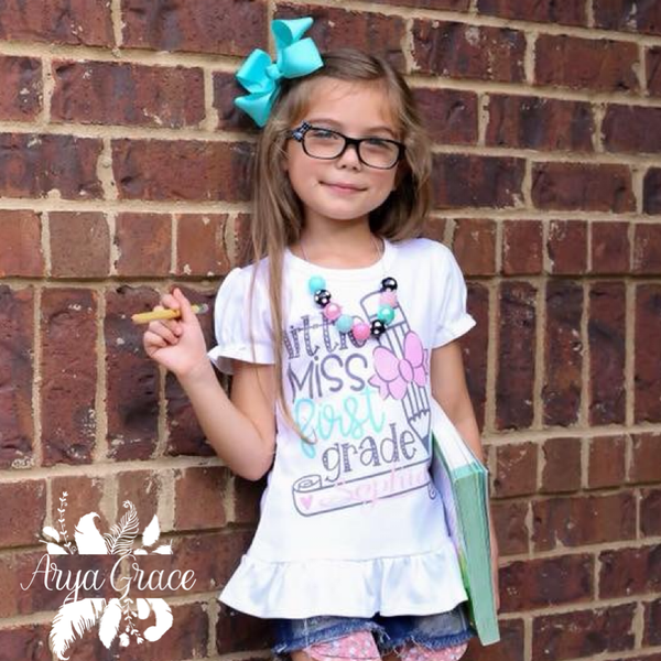 Little Miss {Choose Your Grade} Personalized Graphic Tee