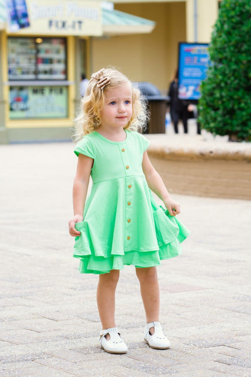 Mint Hensley Twirl Dress Set