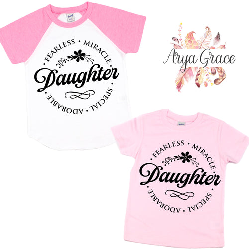 Daughter Graphic Tee (Infant, Toddler & Youth)